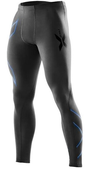 2XU M's Compression Tights Black/Pacific Blue logo